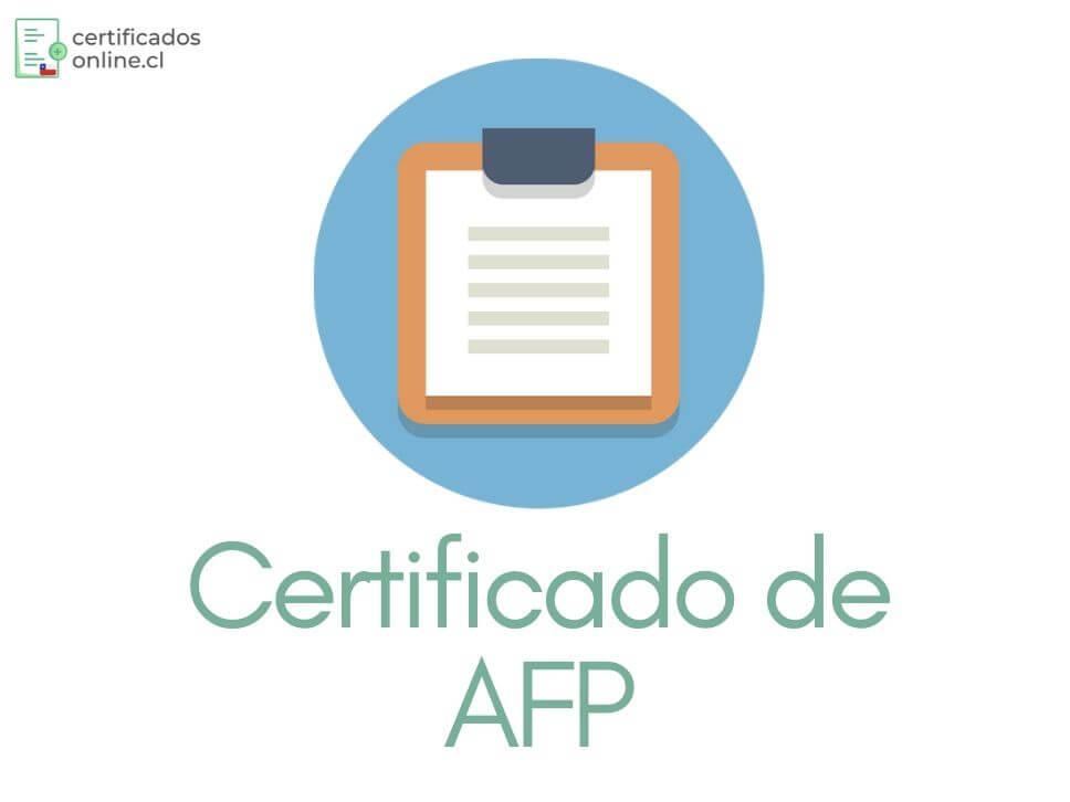 certificado de la afp