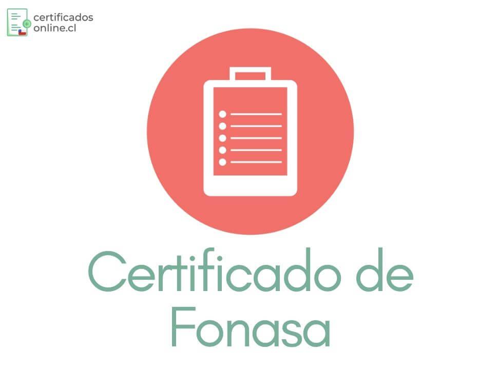 Certificado de Afiliación Fonasa