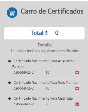 carro de certificados